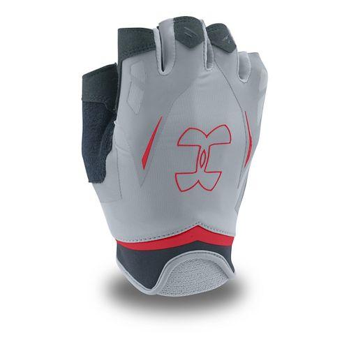 Mens Under Armour Flux Glove Handwear - Steel/Red M