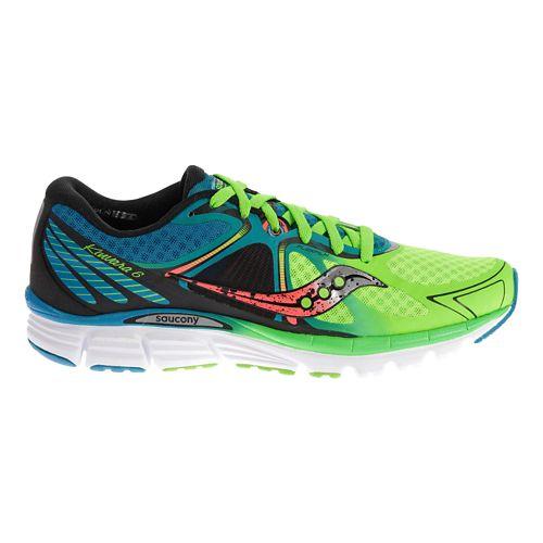 Mens Saucony Kinvara 6 Running Shoe - Blue/Slime 10.5