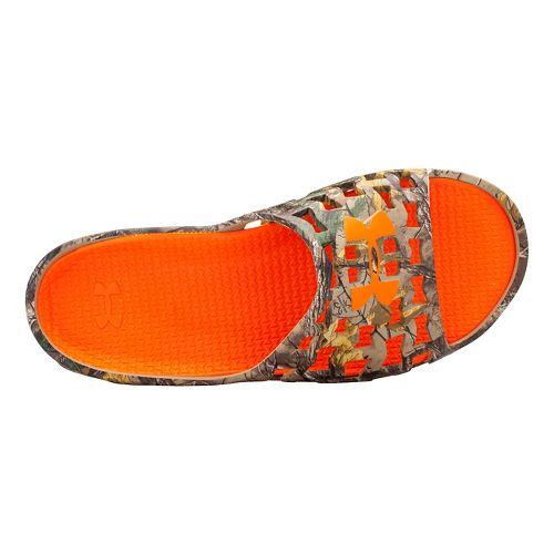 Mens Under Armour Mavrix Camo SL Sandals Shoe - Real Tree/Brown 10