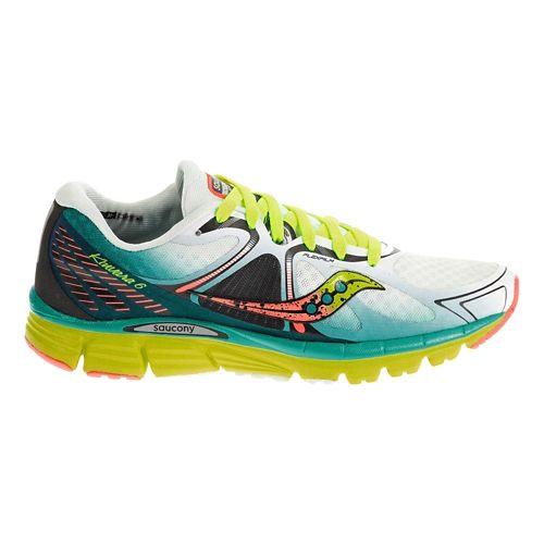 Womens Saucony Kinvara 6 Running Shoe - White/Blue 9.5