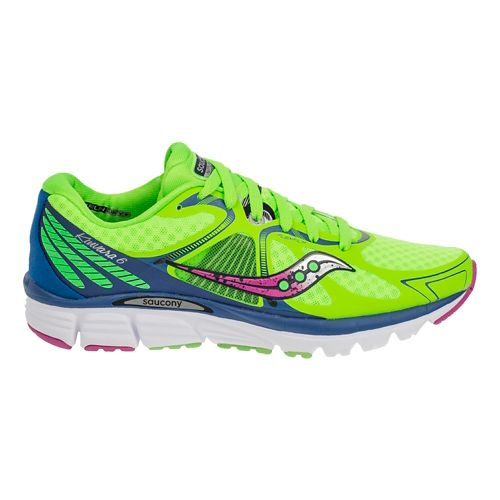 Womens Saucony Kinvara 6 Running Shoe - Slime/Blue 10