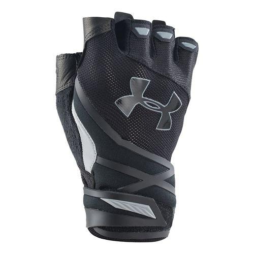 Mens Under Armour Resistor Glove Handwear - Black/Black L