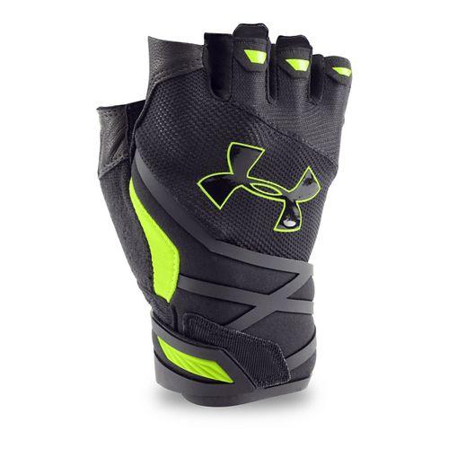 Mens Under Armour Resistor Glove Handwear - Black/Fuel Green XL