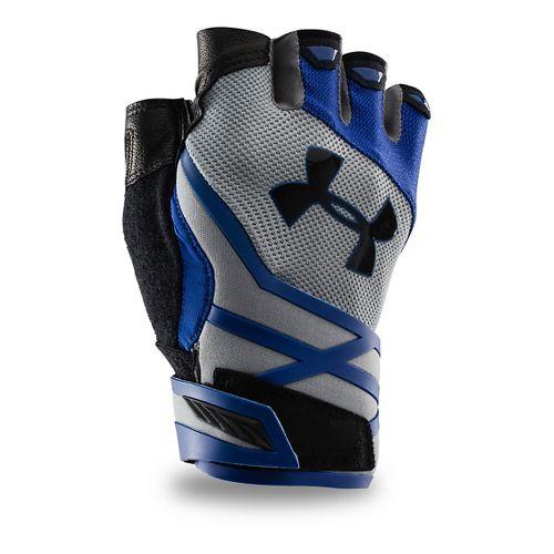 Mens Under Armour Resistor Glove Handwear - Steel/Royal S