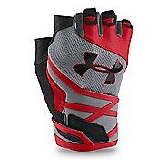 Mens Under Armour Resistor Glove Handwear - Steel/Red XXL