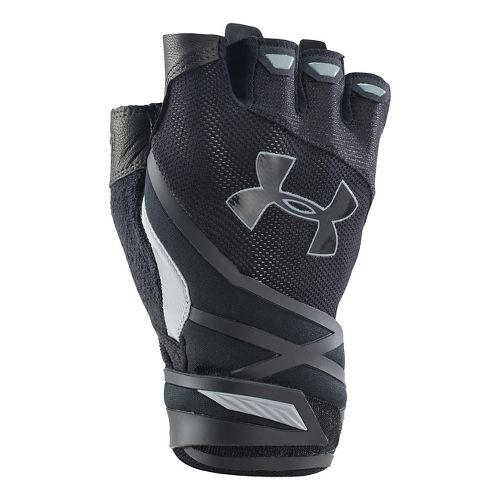 Mens Under Armour Resistor Glove Handwear - Black/Black L