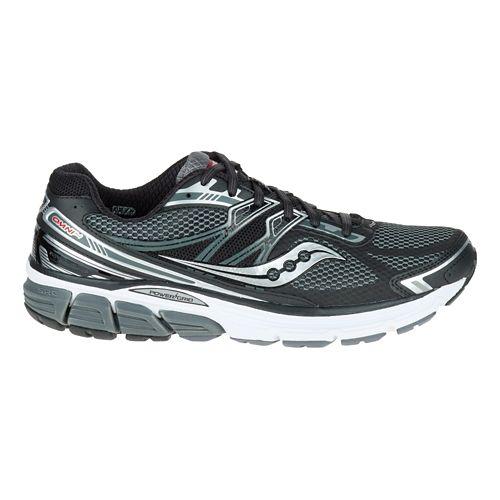 Mens Saucony Omni 14 Running Shoe - Black/Grey 11