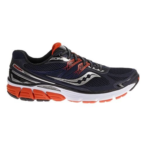 Mens Saucony Omni 14 Running Shoe - Navy/Red 11.5