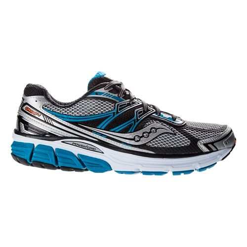 Mens Saucony Omni 14 Running Shoe - Silver/Blue 14