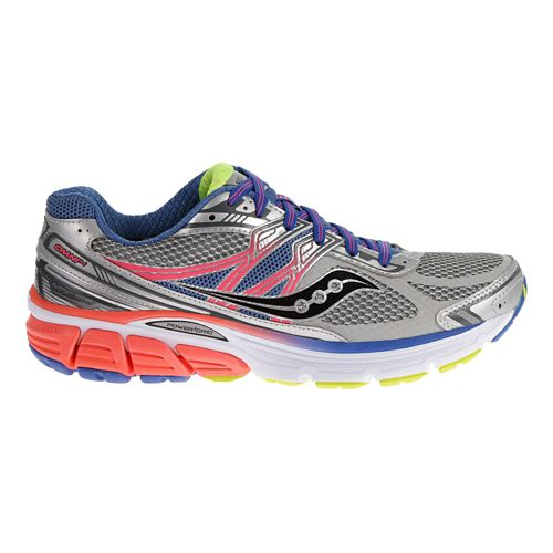 Womens Saucony Omni 14 Running Shoe - Silver/Blue 5