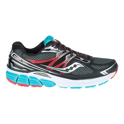 Womens Saucony Omni 14 Running Shoe - Black/Teal 8