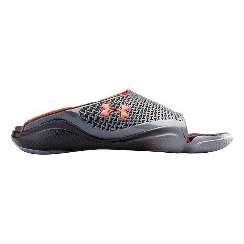 Mens Under Armour Compression II SL Sandals Shoe - Black/After Burn 13