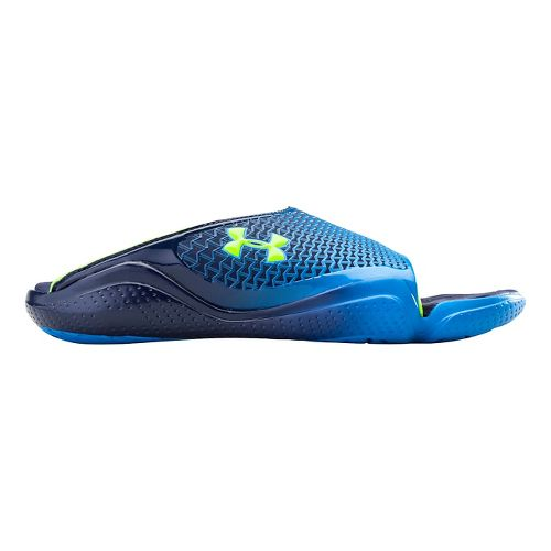 Mens Under Armour Compression II SL Sandals Shoe - Midnight/Yellow 10