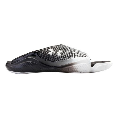 Mens Under Armour Compression II SL Sandals Shoe - Black/White 8
