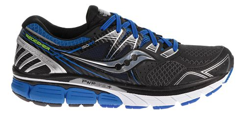 Mens Saucony Redeemer ISO Running Shoe - Black/Blue 12