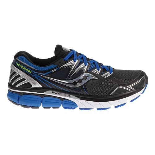 Mens Saucony Redeemer ISO Running Shoe - Black/Blue 8.5