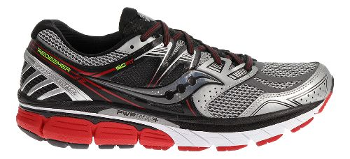 Mens Saucony Redeemer ISO Running Shoe - Silver/Red 10.5