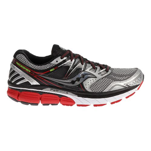 Mens Saucony Redeemer ISO Running Shoe - Silver/Red 12.5