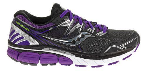 Womens Saucony Redeemer ISO Running Shoe - Black/Purple 5.5