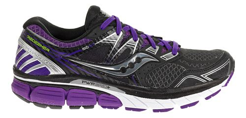 Womens Saucony Redeemer ISO Running Shoe - Black/Purple 6.5