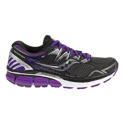 Womens Saucony Redeemer ISO Running Shoe - Black/Purple 8.5