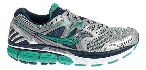 Womens Saucony Redeemer ISO Running Shoe - Silver/Green 9.5