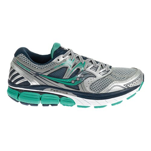 Womens Saucony Redeemer ISO Running Shoe - Silver/Green 7.5