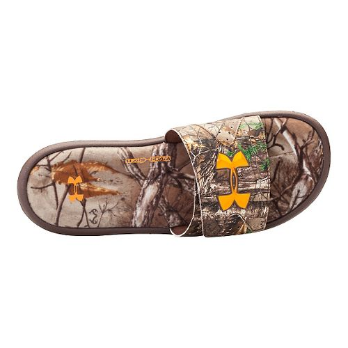 Mens Under Armour Ignite Camo IV SL Sandals Shoe - Real Tree/Brown 9