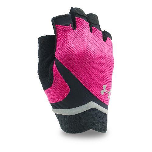 Womens Under Armour Flux Glove Handwear - Tropic Pink/Black XL