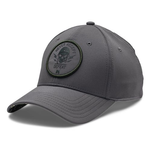 Mens Under Armour Alter Ego Military Cap Headwear - True Gray Heather L/XL
