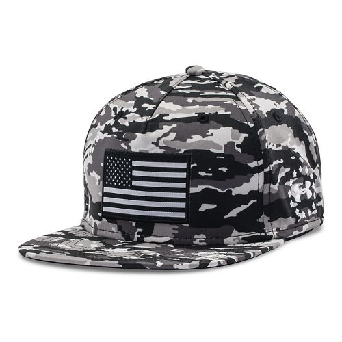Mens Under Armour Alter Ego Camo Flag Cap Headwear - Artillery Green M/L