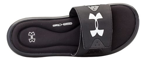 Mens Under Armour Ignite IV SL Sandals Shoe - Black/White 13