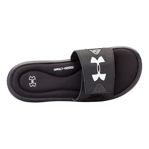 Mens Under Armour Ignite IV SL Sandals Shoe - Black/White 10