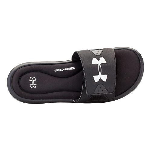 Mens Under Armour Ignite IV SL Sandals Shoe - Black/White 12