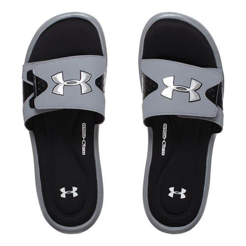 Mens Under Armour Ignite IV SL Sandals Shoe - Steel 10