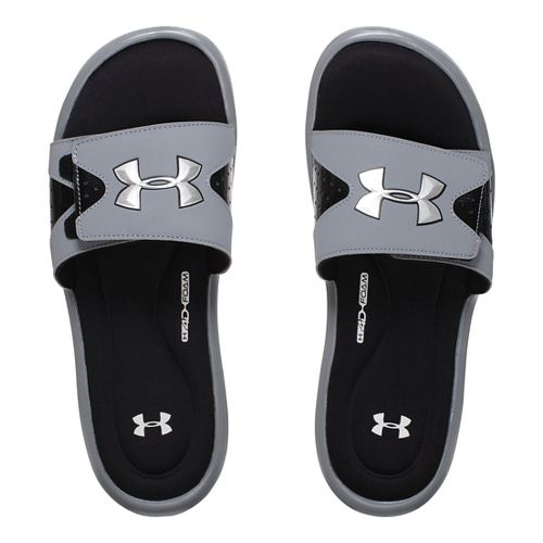 Mens Under Armour Ignite IV SL Sandals Shoe - Steel 13