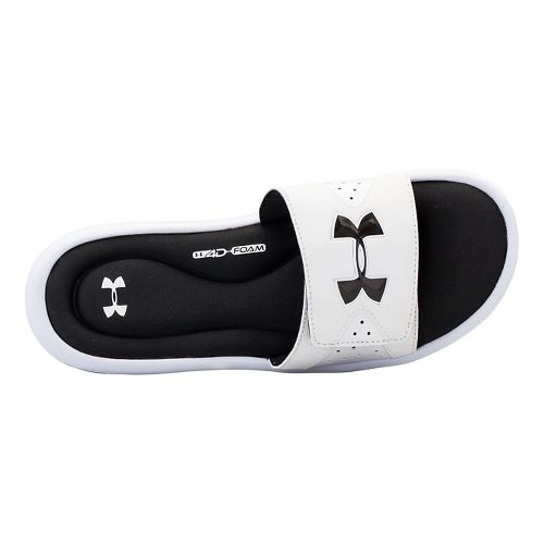 Mens Under Armour Ignite IV SL Sandals Shoe - White/Black 12