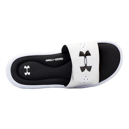 Mens Under Armour Ignite IV Sandals Shoe - White/Black 7