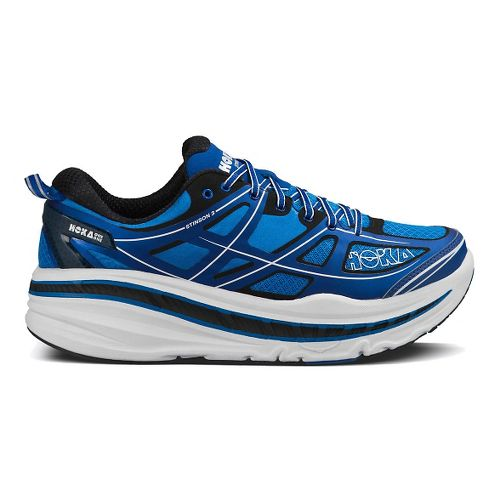 Mens Hoka One One Stinson 3 Running Shoe - Blue/White 11.5
