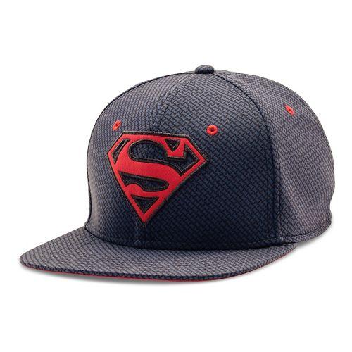 Mens Under Armour Superman Core Team Cap Headwear - Midnight Navy L/XL