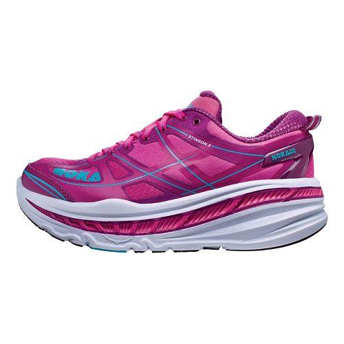 Womens Hoka One One Stinson 3 Running Shoe - Fuchsia/Purple 9.5