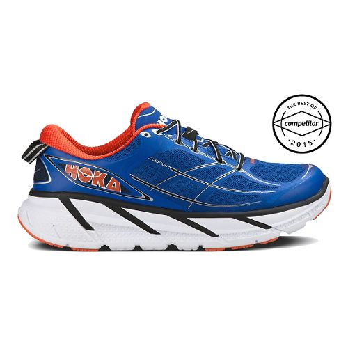 Mens Hoka One One Clifton 2 Running Shoe - Blue/Orange 10.5