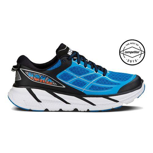 Mens Hoka One One Clifton 2 Running Shoe - Blue/Citrus 10.5