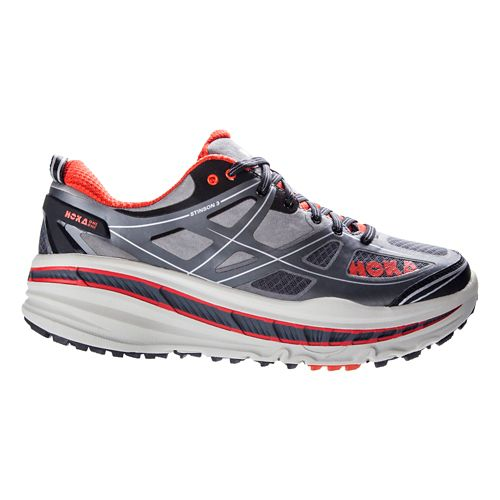 Mens Hoka One One Stinson 3 ATR Trail Running Shoe - Grey/Orange 10.5