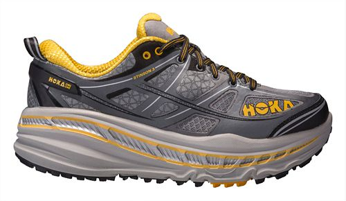 Mens Hoka One One Stinson 3 ATR Trail Running Shoe - Grey/Gold 11.5