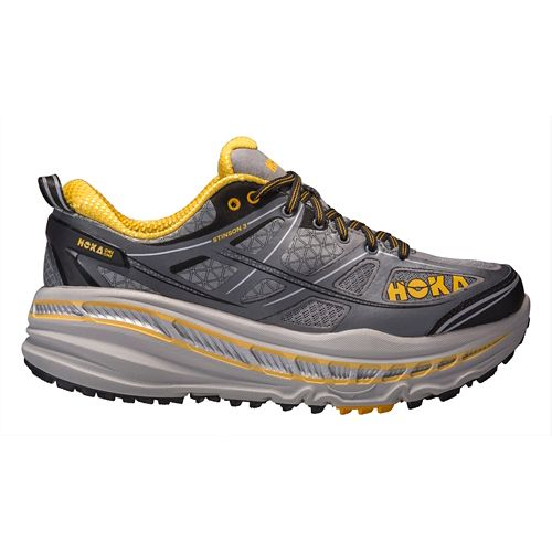 Mens Hoka One One Stinson 3 ATR Trail Running Shoe - Grey/Gold 9