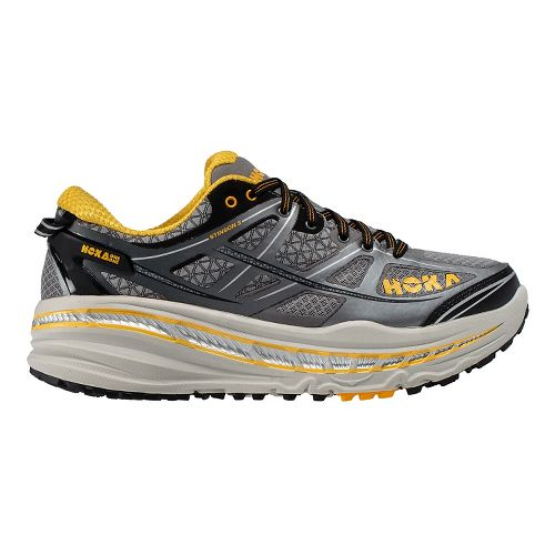 Mens Hoka One One Stinson 3 ATR Trail Running Shoe - Grey/Gold 7.5