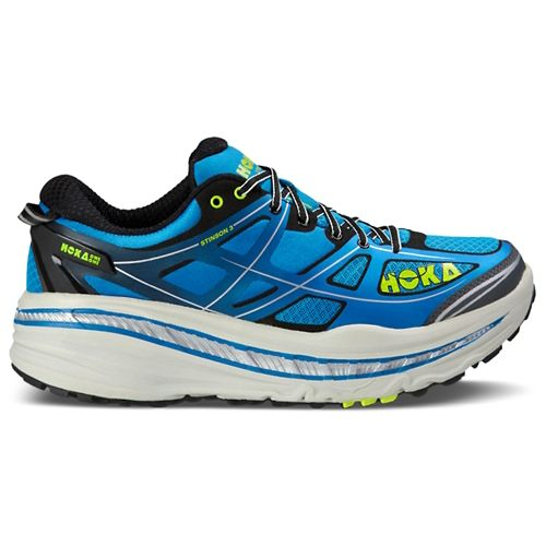 Mens Hoka One One Stinson 3 ATR Trail Running Shoe - Blue/Citrus 11.5
