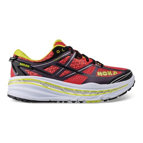 Mens Hoka One One Stinson 3 ATR Trail Running Shoe - Cayenne/Acid 7.5