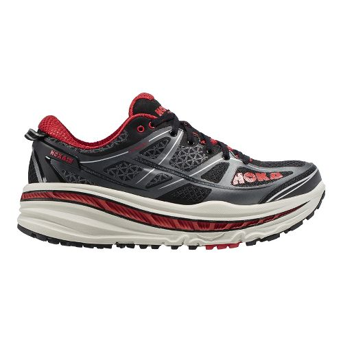 Mens Hoka One One Stinson 3 ATR Trail Running Shoe - Grey/Orange 12.5